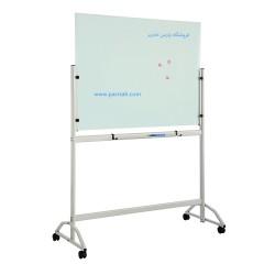 تخته وایت برد شیشه ای مغناطیسی پایه دار سایز 120 × 90