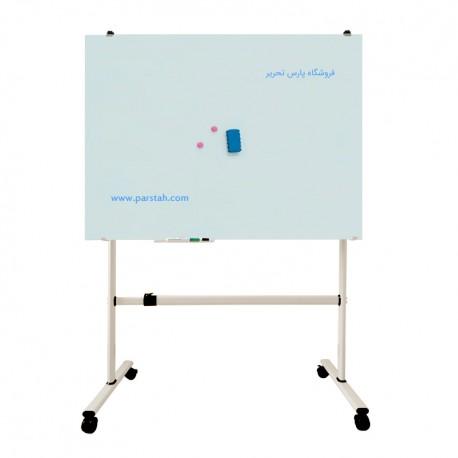 تخته وایت برد شیشه ای مغناطیسی پایه دار مدل A994
